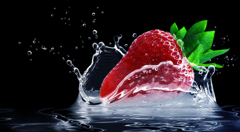 strawberry-water-splashes-splash-drop-of-water-407040
